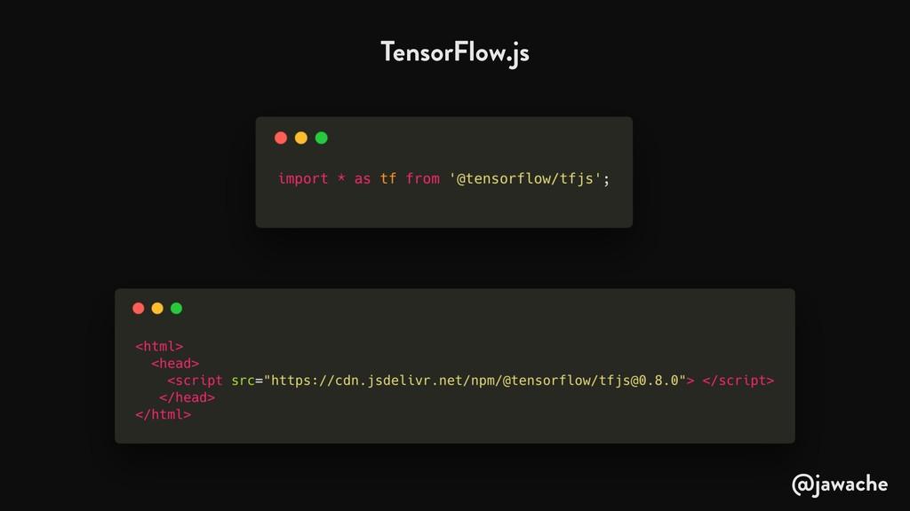 TensorFlow.js @jawache