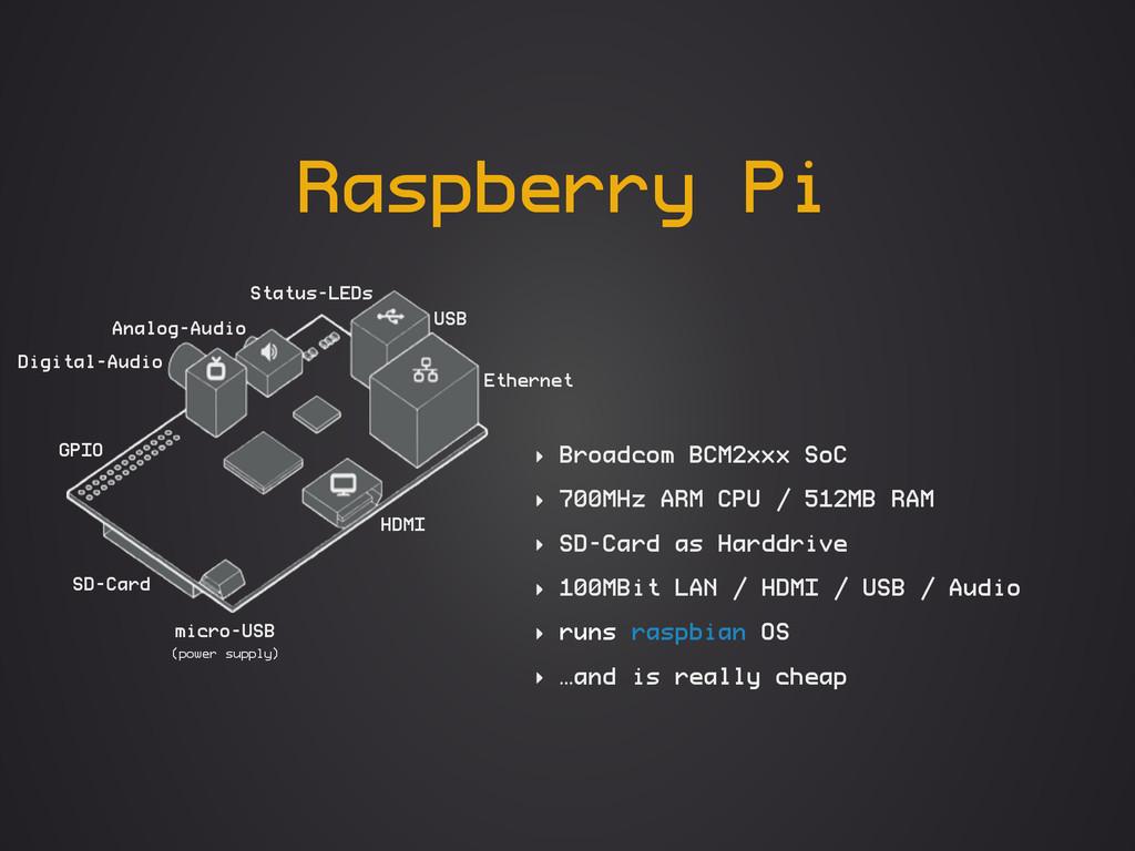 Raspberry Pi ‣ Broadcom BCM2xxx SoC ‣ 700MHz AR...
