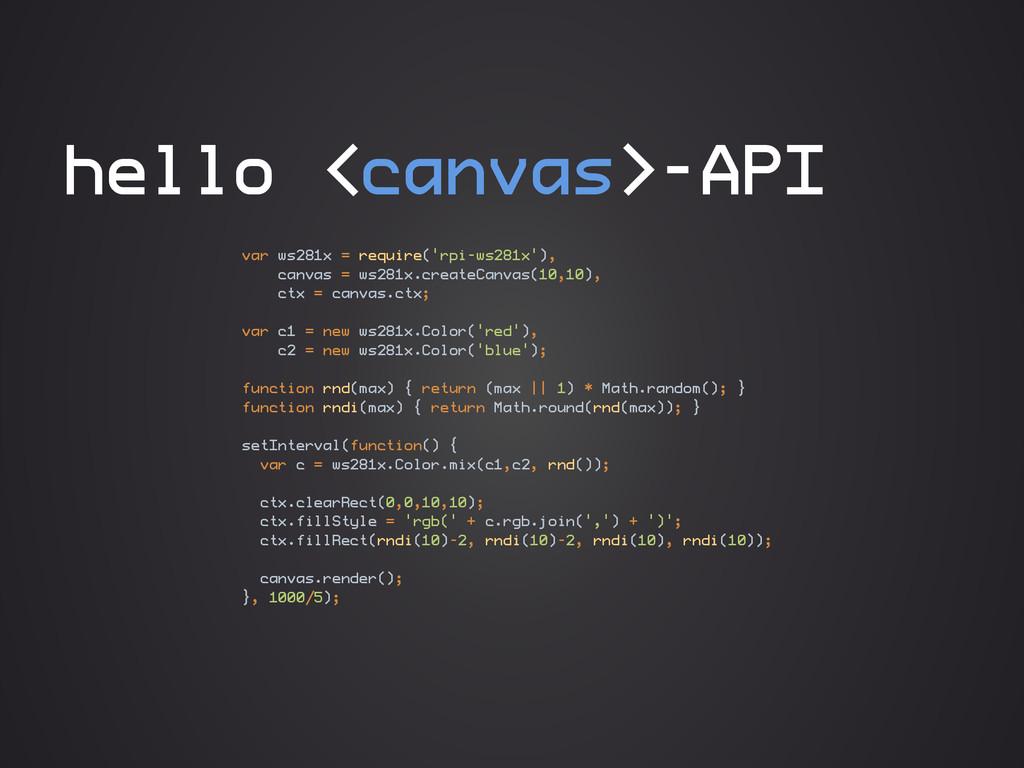 hello <canvas>-API var ws281x = require('rpi-ws...