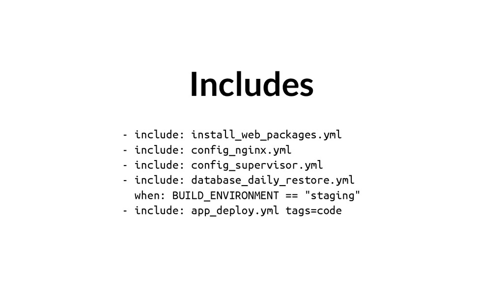 - include: install_web_packages.yml - include: ...