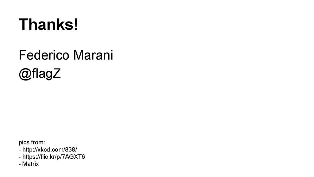 Thanks! Federico Marani @flagZ pics from: - htt...