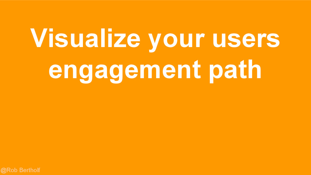 @Rob Bertholf Visualize your users engagement p...