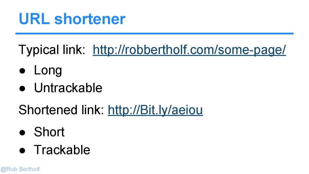 @Rob Bertholf Typical link: http://robbertholf....