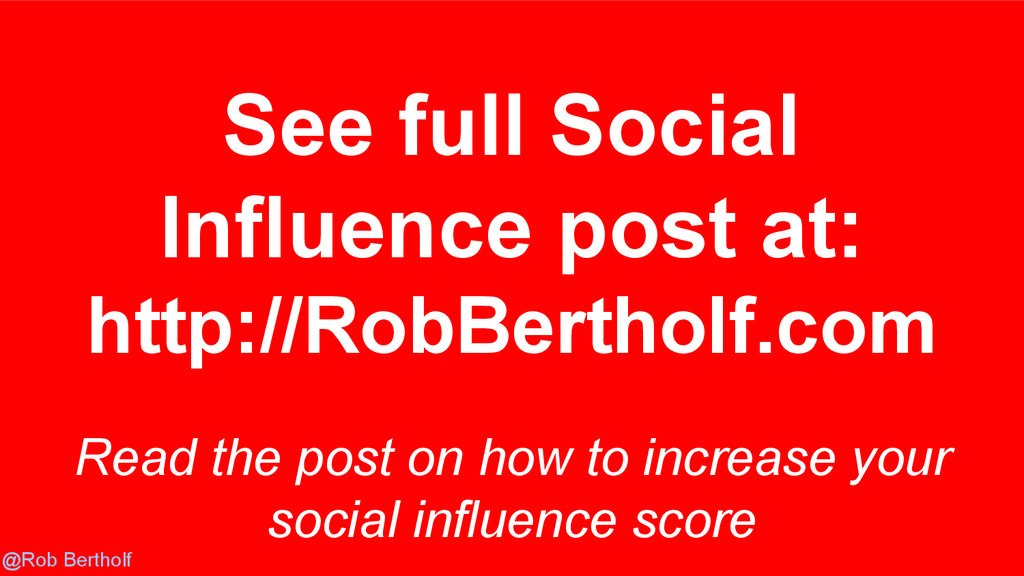 @Rob Bertholf Read the post on how to increase ...