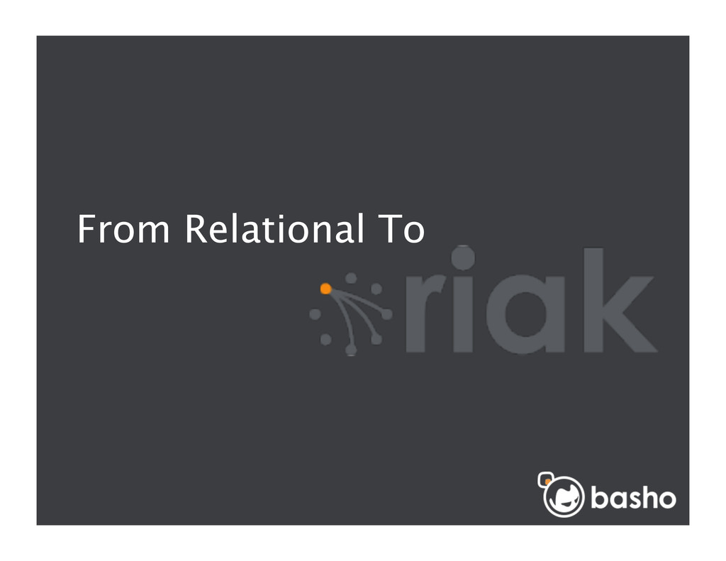 From Relational To