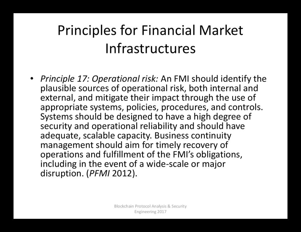 Principles for Financial Market Infrastructures...