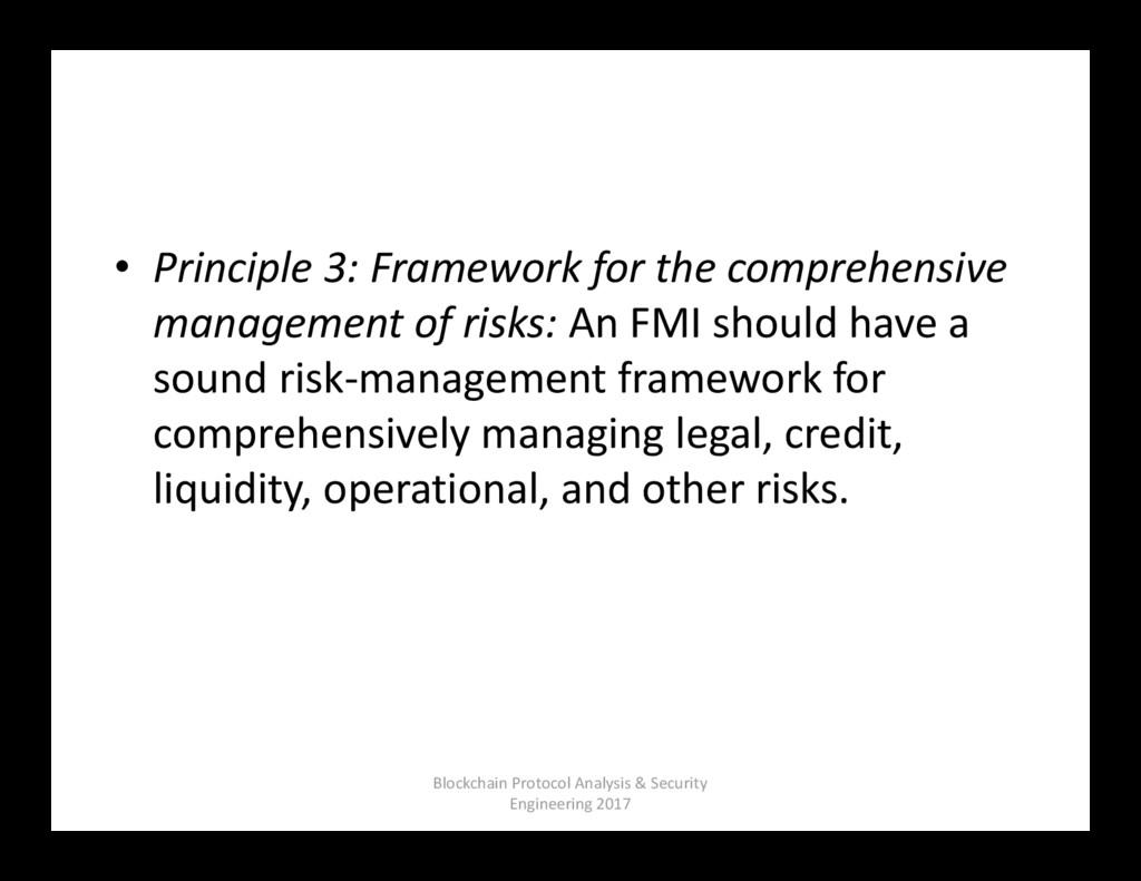 • Principle 3: Framework for the comprehensive ...