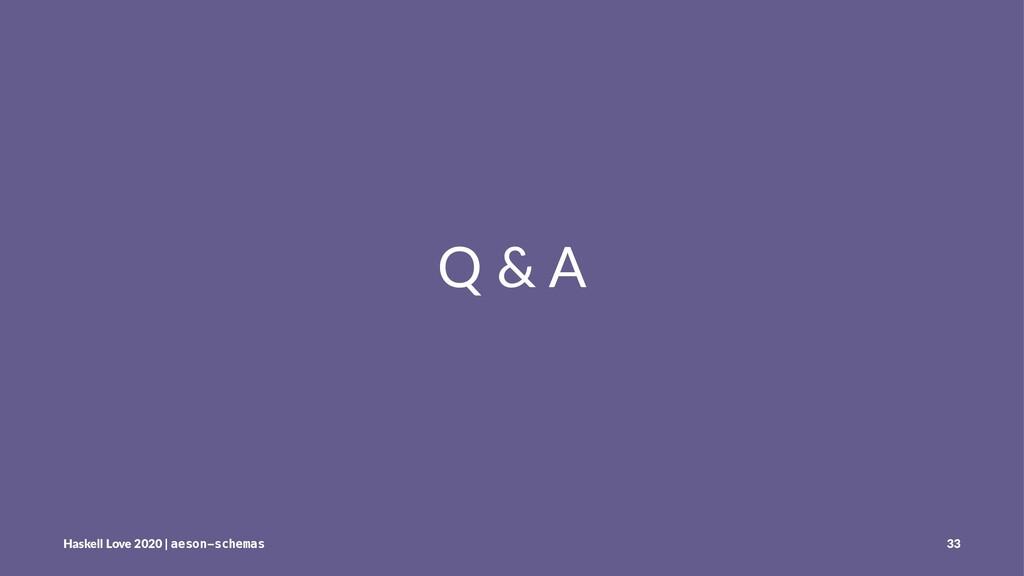 Q & A Haskell Love 2020 | aeson-schemas 33