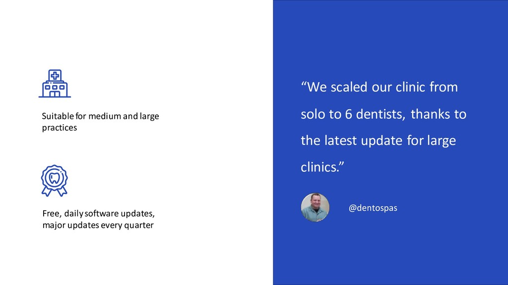 """""""We scaled our clinic from solo to 6 dentists, ..."""