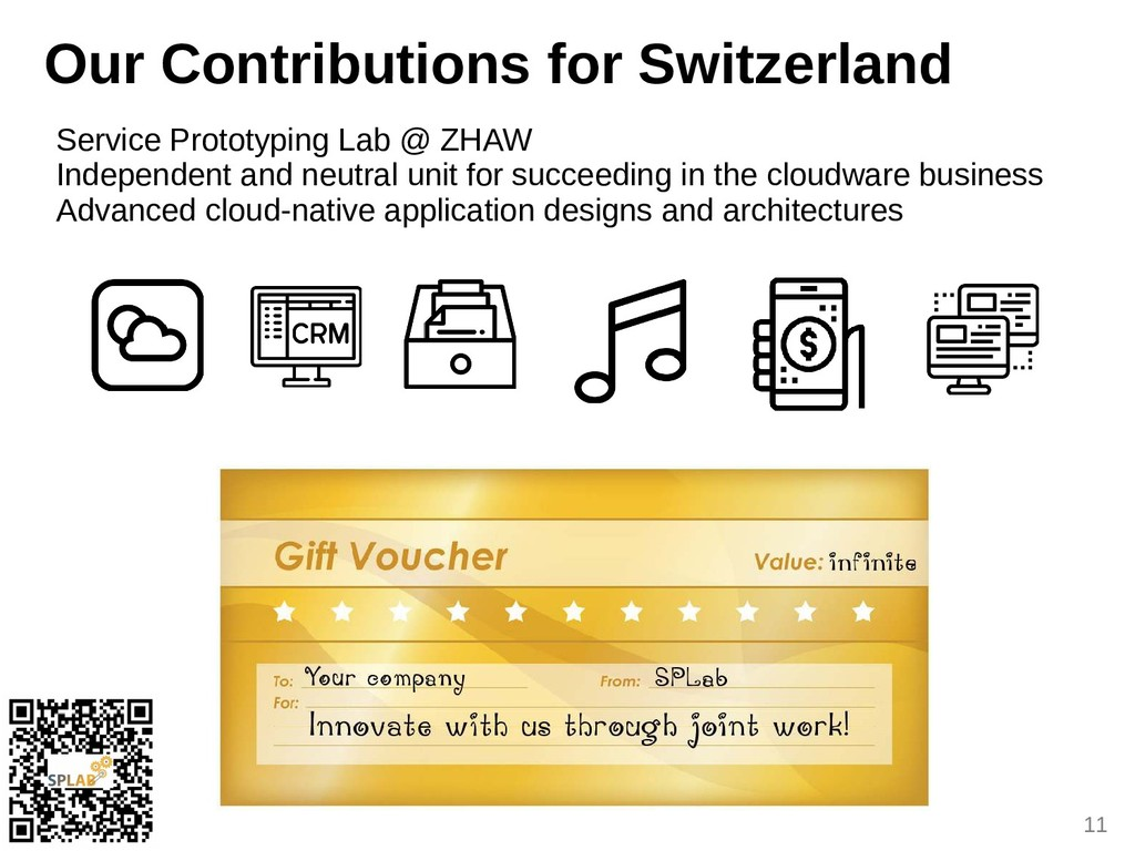 11 Our Contributions for Suitzerland Service Pr...