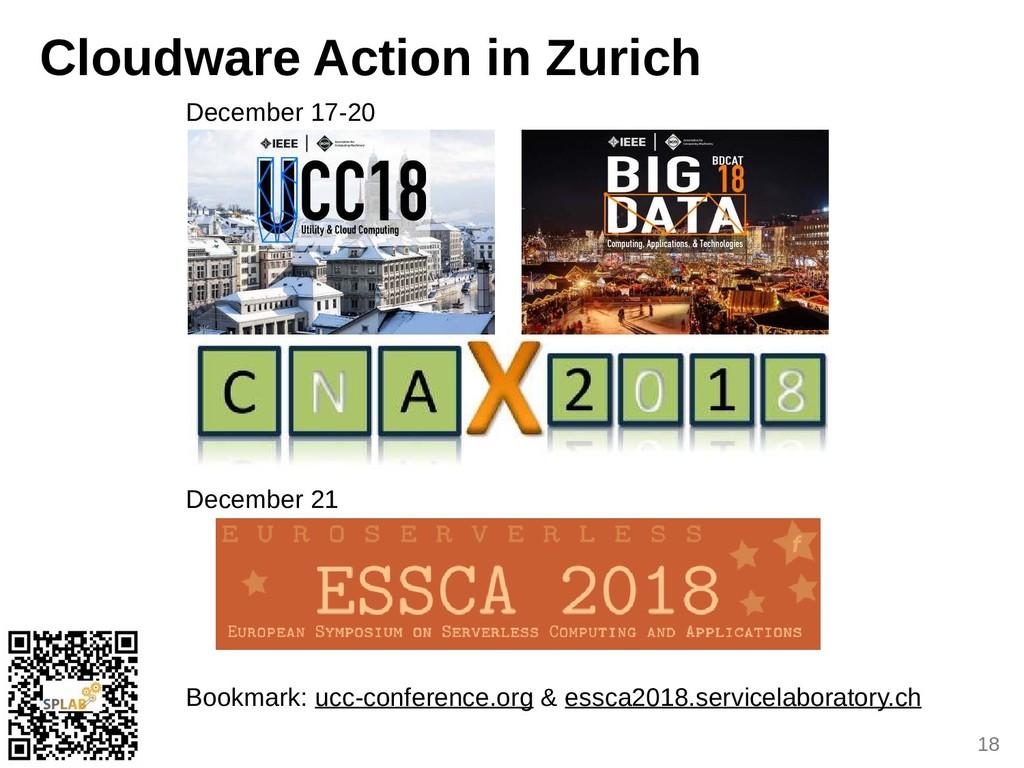 18 Clouduare Action in Zurich December 17-20 De...