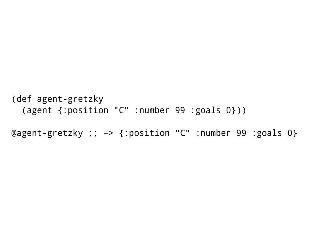 "(def agent-gretzky (agent {:position ""C"" :numbe..."