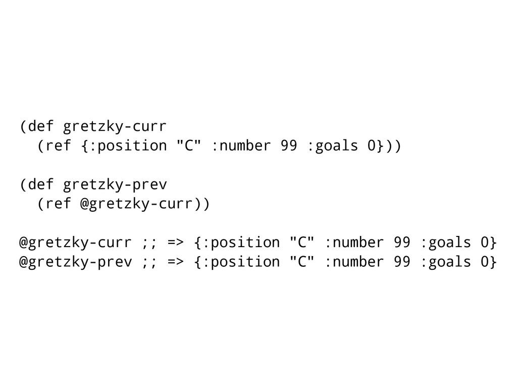"""(def gretzky-curr (ref {:position """"C"""" :number 9..."""