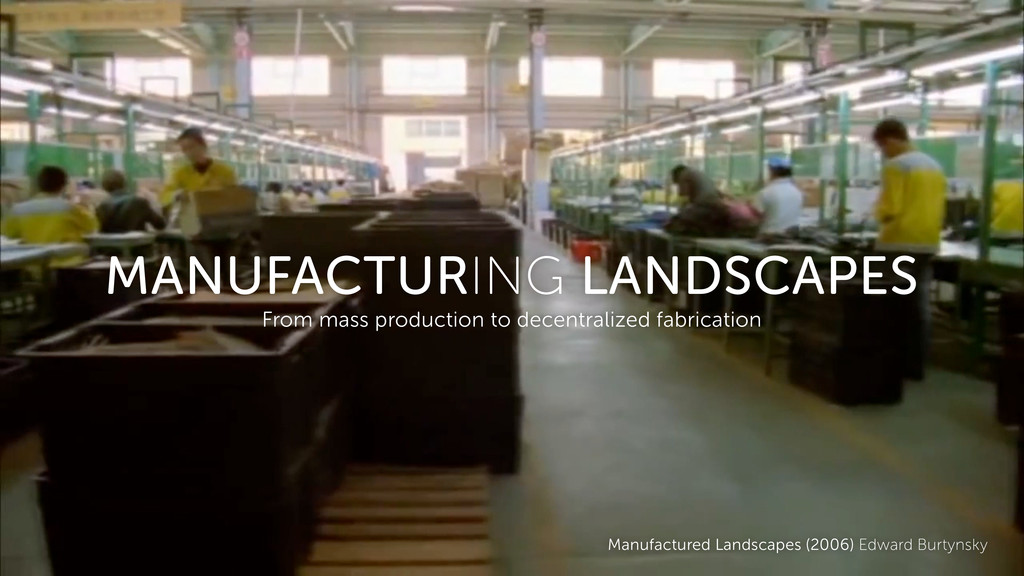 Manufactured Landscapes (2006) Edward Burtynsky...