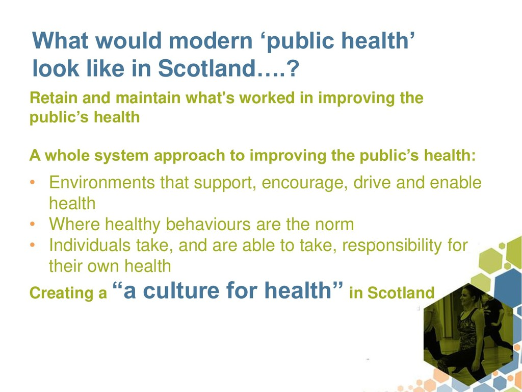 What would modern 'public health' look like in ...