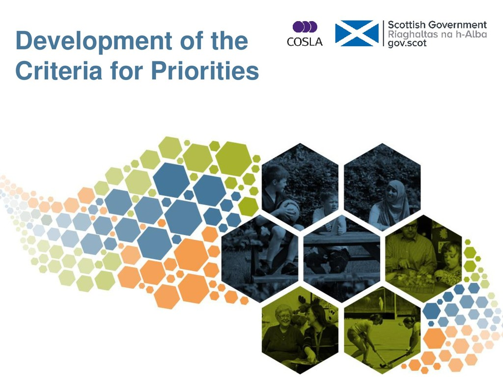 Development of the Criteria for Priorities