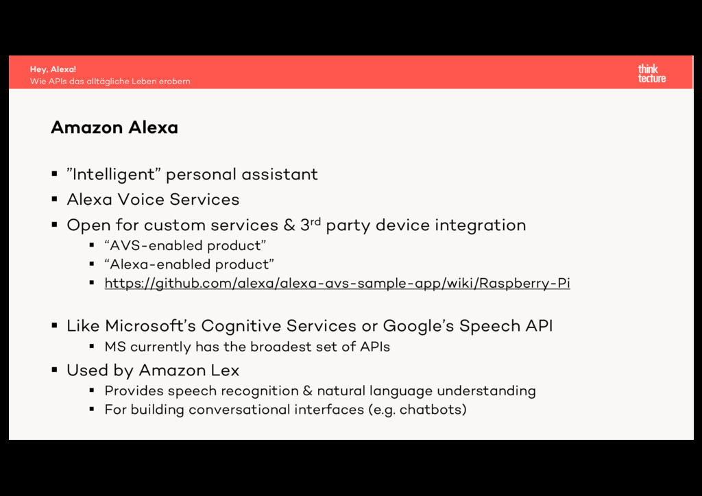"§ ""Intelligent"" personal assistant § Alexa Voic..."