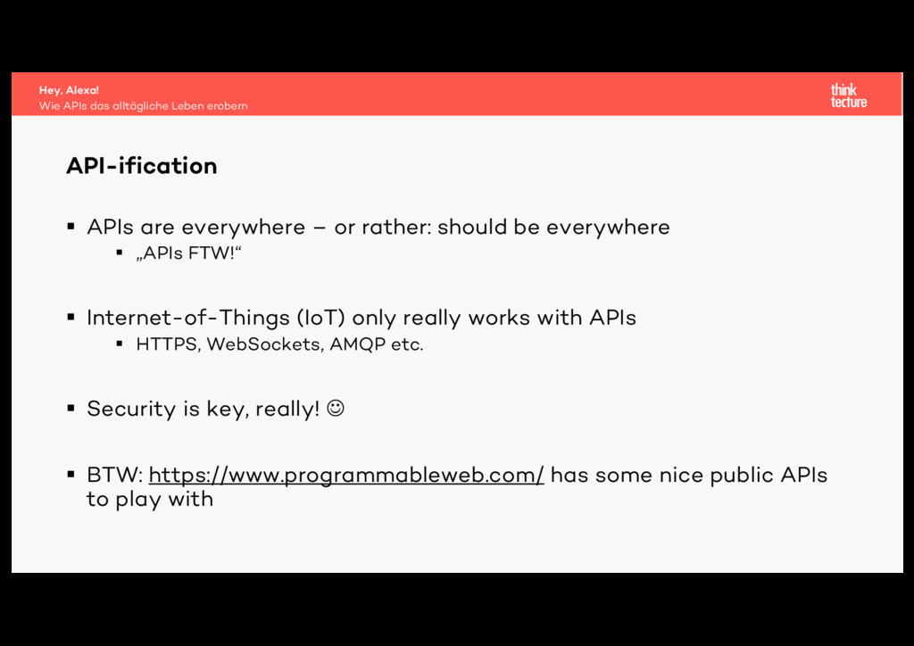 § APIs are everywhere – or rather: should be ev...
