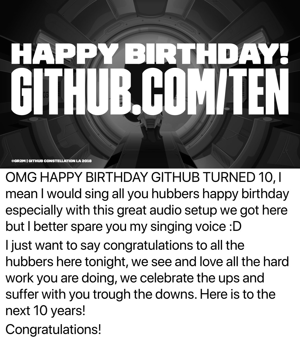 OMG HAPPY BIRTHDAY GITHUB TURNED 10, I mean I w...