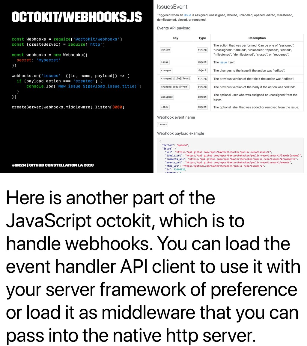 Here is another part of the JavaScript octokit,...