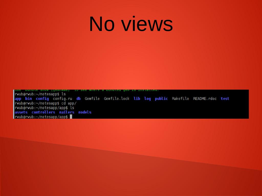 No views