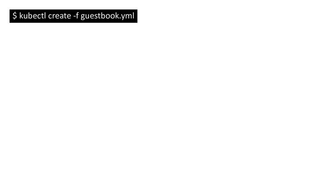 $ kubectl create -f guestbook.yml