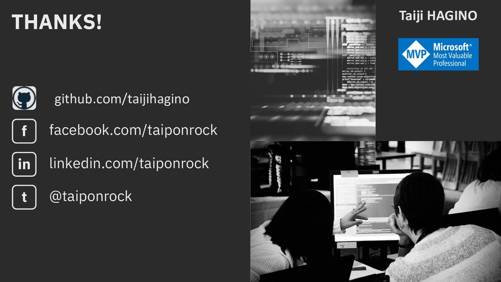 github.com/taijihagino Taiji HAGINO THANKS! fac...