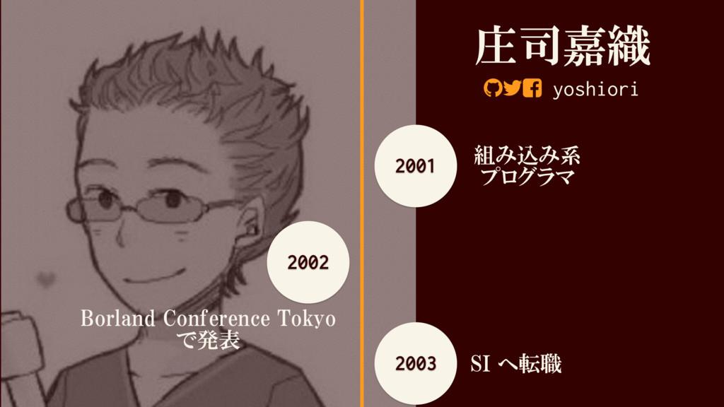 庄司嘉織 yoshiori 2001 組み込み系 プログラマ 2002 Borland Con...