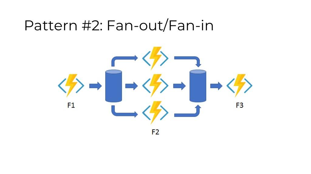 Pattern #2: Fan-out/Fan-in