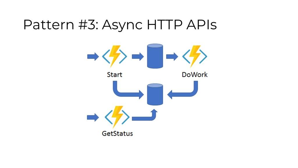 Pattern #3: Async HTTP APIs