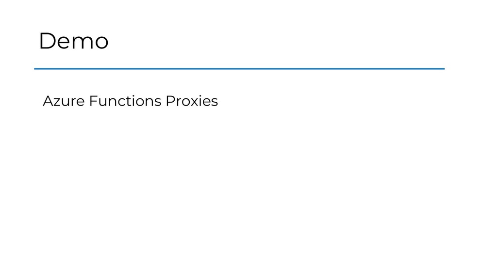 Demo Azure Functions Proxies