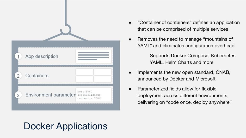 Docker Applications App description Containers ...