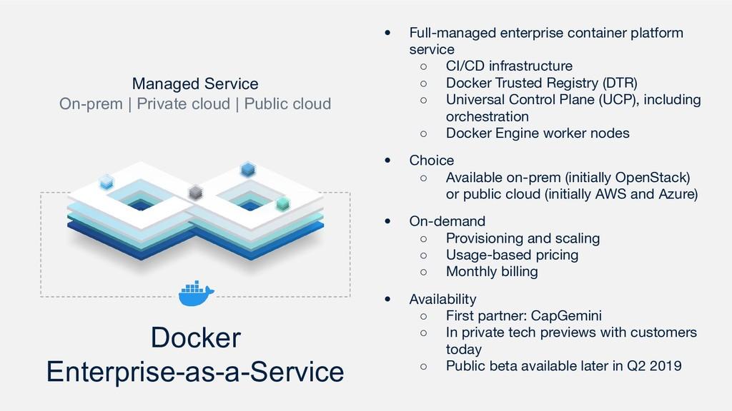 Docker Enterprise-as-a-Service Managed Service ...