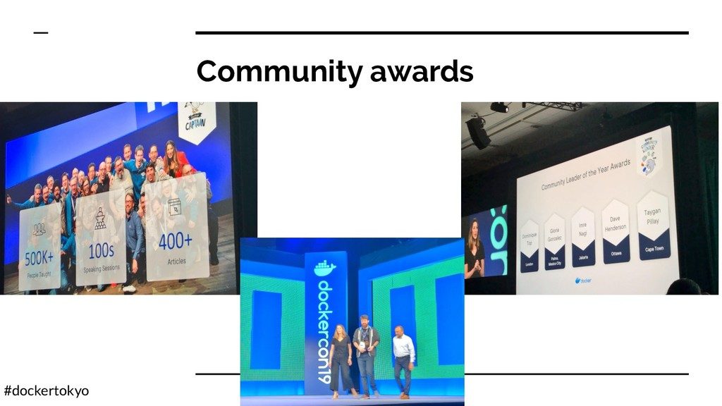#dockertokyo Community awards