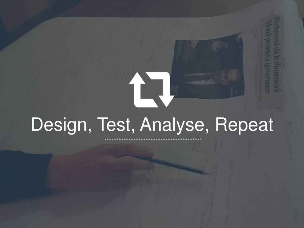 Design, Test, Analyse, Repeat