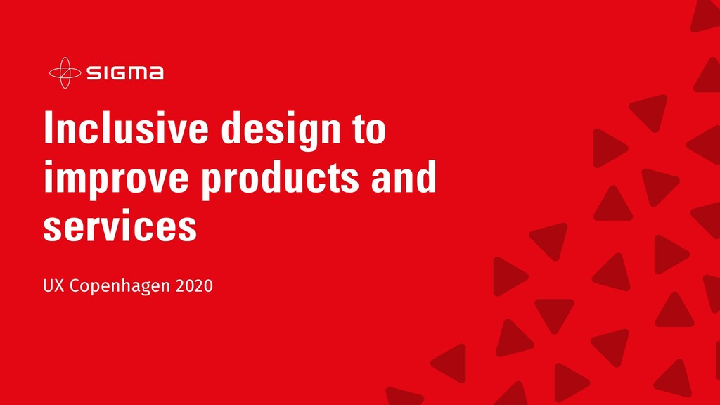 Inclusive design to improve products and servic...