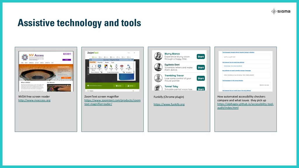 Assistive technology and tools WCAG 2.1 guideli...
