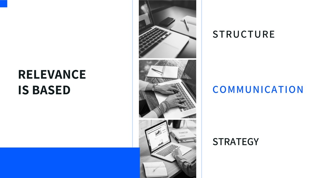 RELEVANCE IS BASED STRUCTURE STRATEGY COMMUNICA...