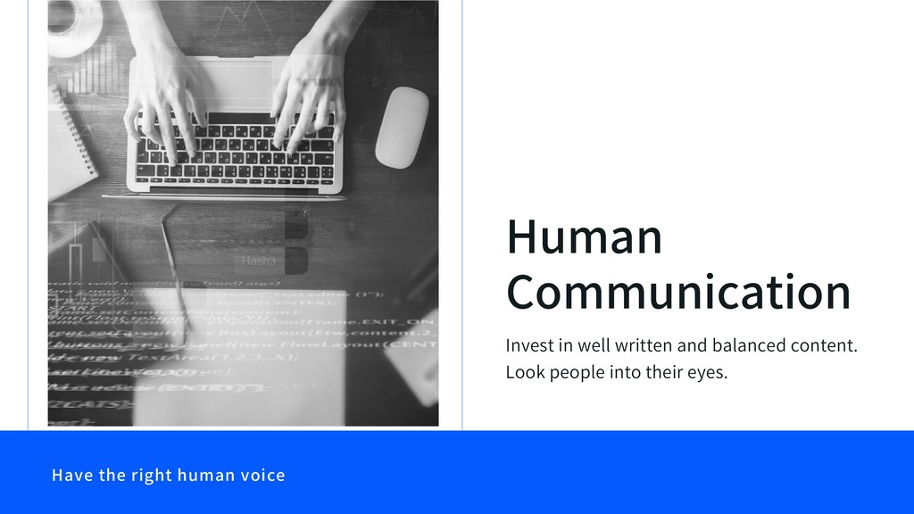 Have the right human voice Human Communication ...