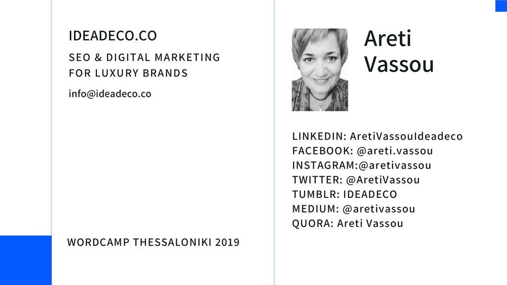 Areti Vassou SEO & DIGITAL MARKETING FOR LUXURY...