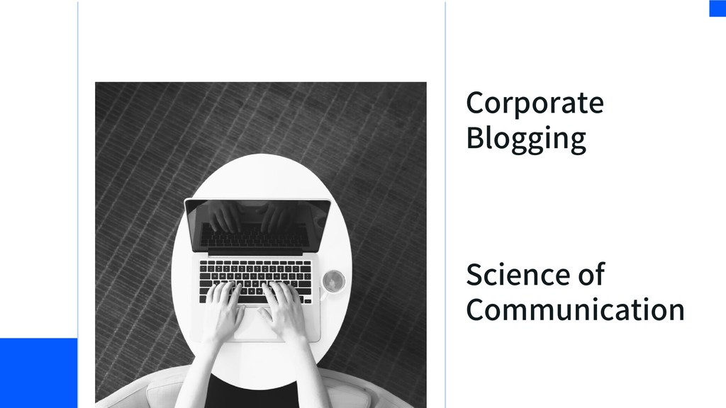 Science of Communication Corporate Blogging