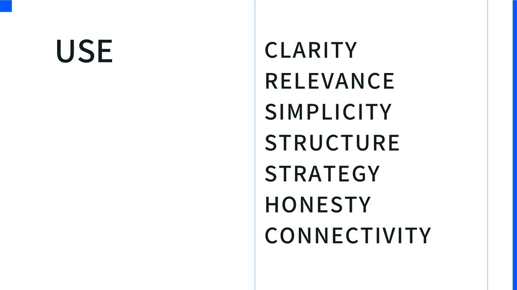 CLARITY RELEVANCE SIMPLICITY STRUCTURE STRATEGY...