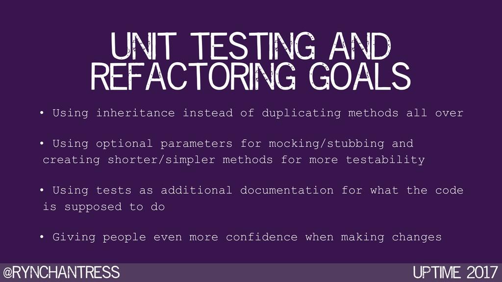 @rynchantress UPtime 2017 unit testing and refa...