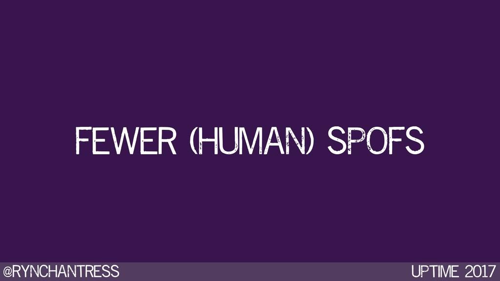 @rynchantress UPtime 2017 Fewer (human) SPOFS