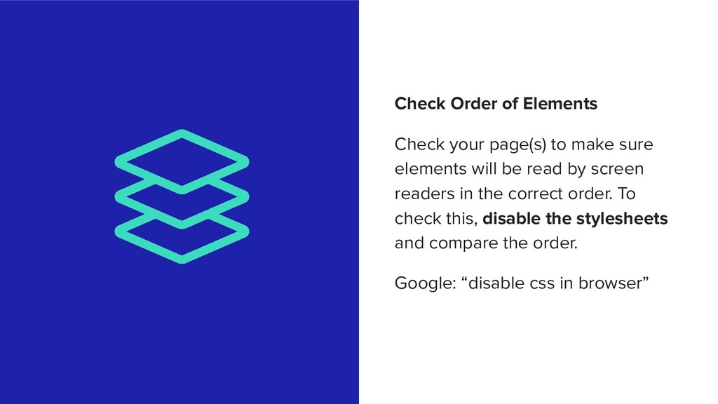 Check Order of Elements Check your page(s) to m...