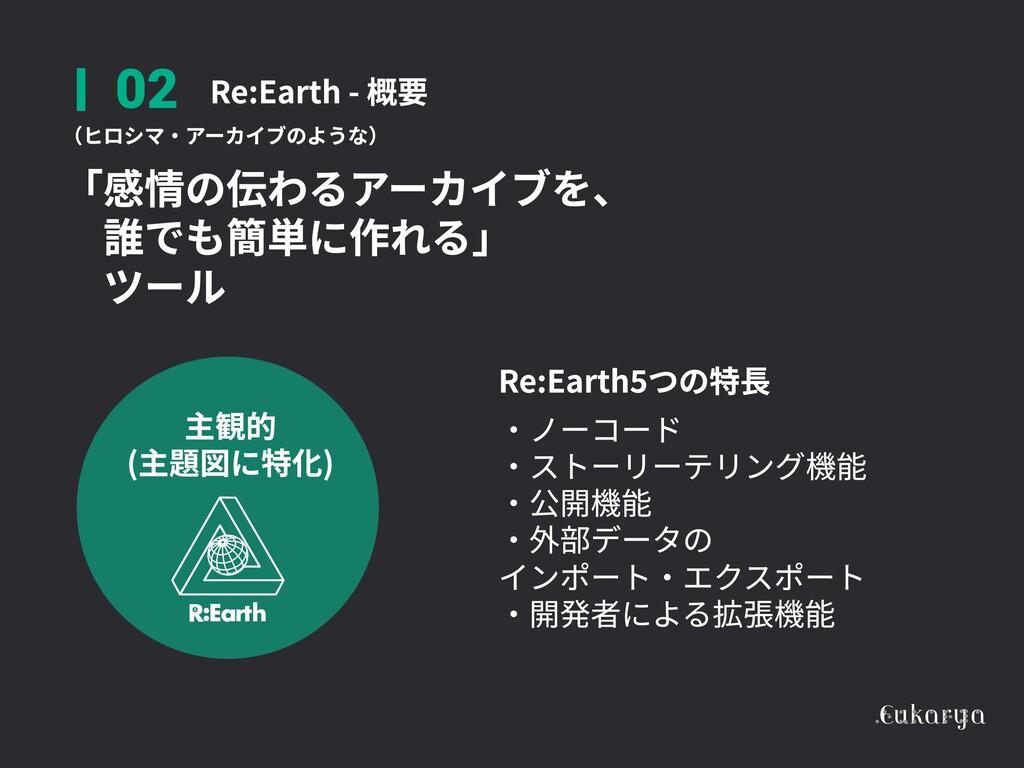 Re:Earth - 概要 02 主観的  (主題図に特化) (ヒロシマ・アーカイブのような)...