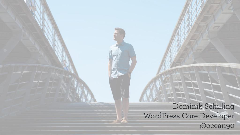 Dominik Schilling WordPress Core Developer @oce...