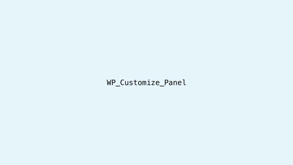 WP_Customize_Panel