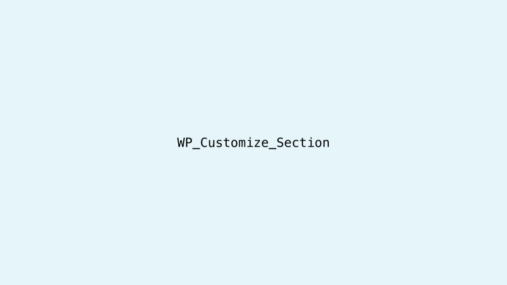 WP_Customize_Section