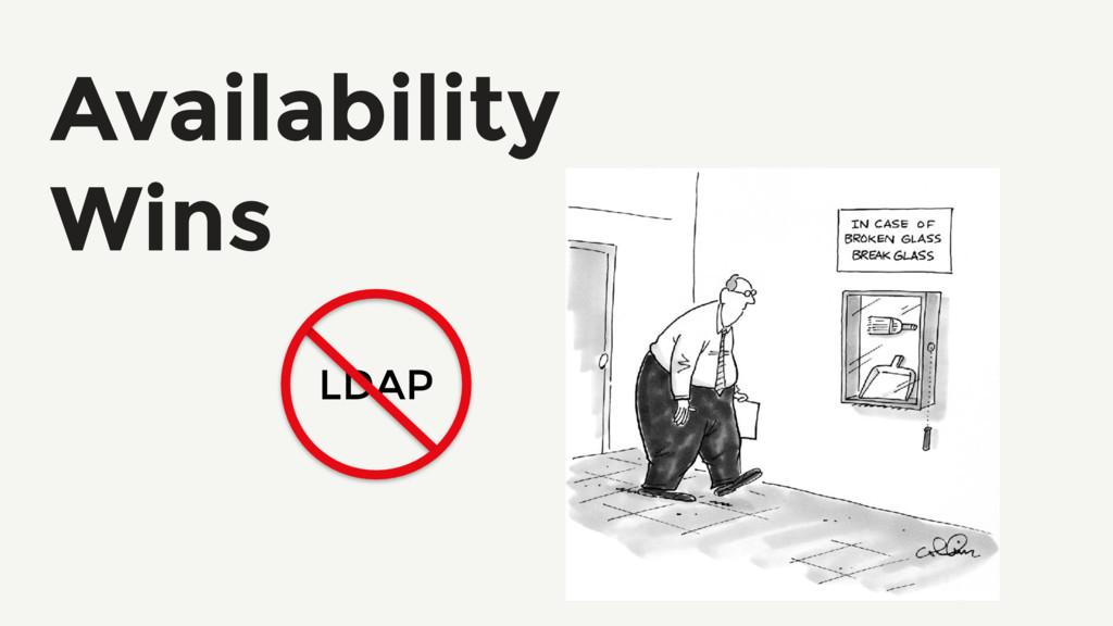 Availability Wins LDAP